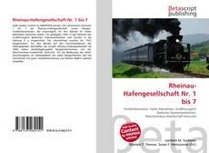 Обложка Rheinau-Hafengesellschaft Nr. 1 bis 7