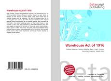 Bookcover of Warehouse Act of 1916