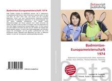 Bookcover of Badminton-Europameisterschaft 1974