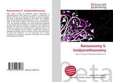Bookcover of Ramaswamy S. Vaidyanathaswamy