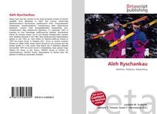 Buchcover von Aleh Ryschankau