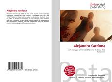 Capa do livro de Alejandro Cardona