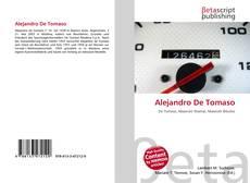 Alejandro De Tomaso kitap kapağı