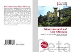 Bookcover of Princess Alexandra of Saxe-Altenburg