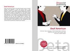 Capa do livro de Deaf American