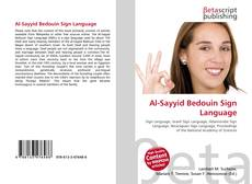 Bookcover of Al-Sayyid Bedouin Sign Language