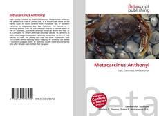 Bookcover of Metacarcinus Anthonyi
