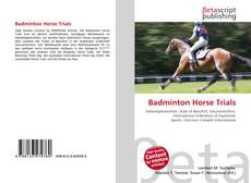Bookcover of Badminton Horse Trials