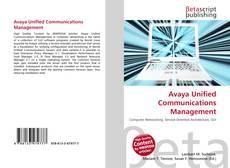 Avaya Unified Communications Management的封面
