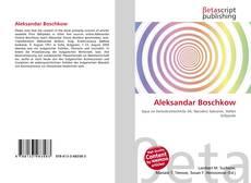 Buchcover von Aleksandar Boschkow