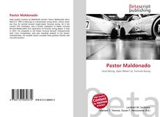 Portada del libro de Pastor Maldonado