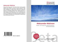 Portada del libro de Aleksandar Malinow