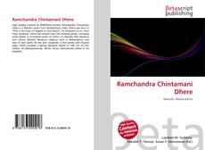 Bookcover of Ramchandra Chintamani Dhere