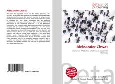Couverture de Aleksander Chwat