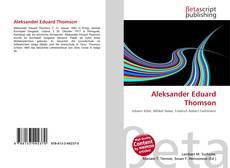 Bookcover of Aleksander Eduard Thomson