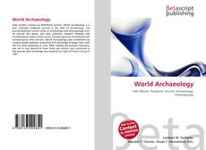 Bookcover of World Archaeology