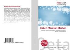 Bookcover of Robert Morrison MacIver