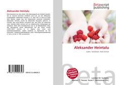 Bookcover of Aleksander Heintalu