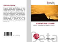 Buchcover von Aleksander Kakowski