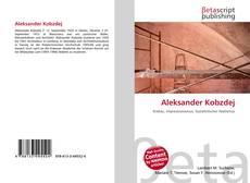 Bookcover of Aleksander Kobzdej