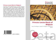 Bookcover of Princess Louise-Marie of Belgium