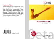 Aleksander Miśta kitap kapağı