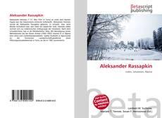 Bookcover of Aleksander Rassapkin