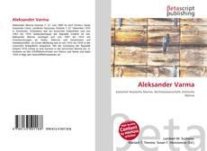 Portada del libro de Aleksander Varma
