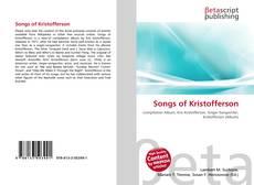 Buchcover von Songs of Kristofferson