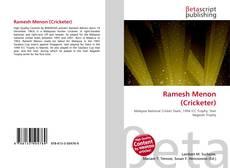 Bookcover of Ramesh Menon (Cricketer)