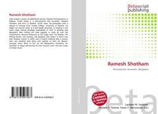 Ramesh Shotham的封面