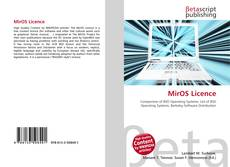 Buchcover von MirOS Licence