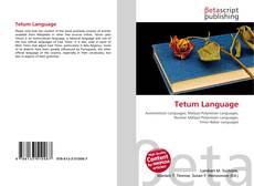 Buchcover von Tetum Language