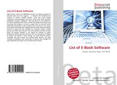 Bookcover of List of E-Book Software