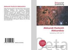 Couverture de Aleksandr Pavlovich Aleksandrov