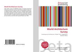 Bookcover of World Architecture Survey