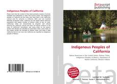 Couverture de Indigenous Peoples of California