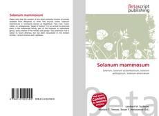 Bookcover of Solanum mammosum