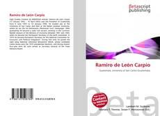 Portada del libro de Ramiro de León Carpio