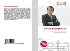 Buchcover von Aleksei Popogrebsky