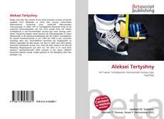 Bookcover of Aleksei Tertyshny