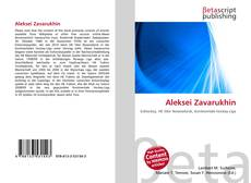 Bookcover of Aleksei Zavarukhin