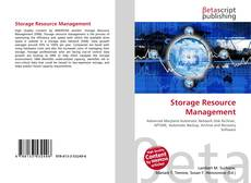Capa do livro de Storage Resource Management