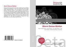 Bookcover of Warm Dense Matter