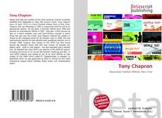 Tony Chapron kitap kapağı