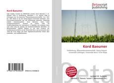 Buchcover von Kord Baeumer