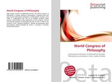 Bookcover of World Congress of Philosophy