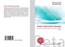 Bookcover of Sonic Interaction Design