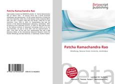 Bookcover of Patcha Ramachandra Rao