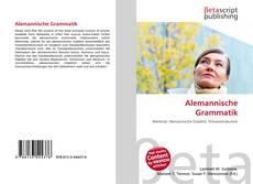 Bookcover of Alemannische Grammatik